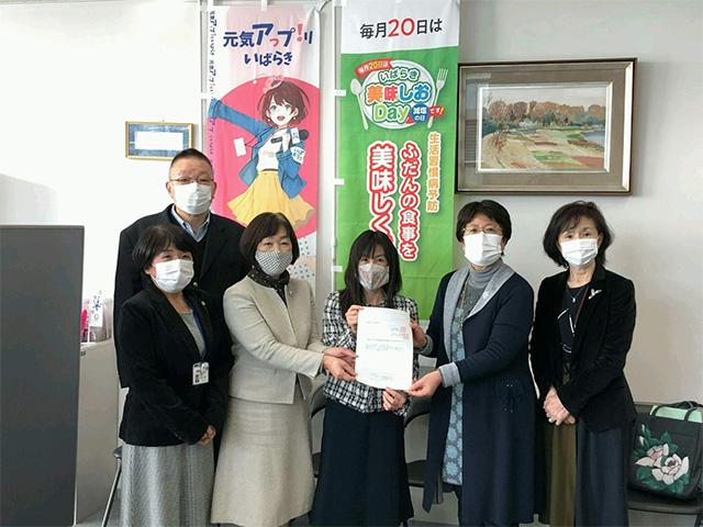 茨城県保健福祉部長木庭愛氏へ緊急要望書を提出